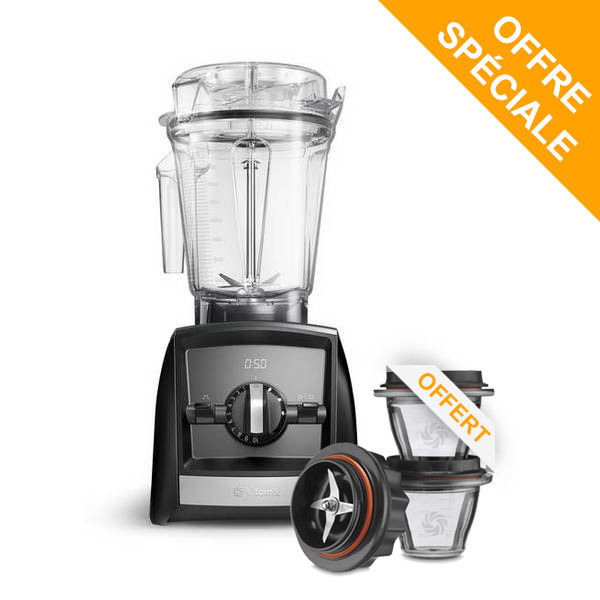 Vitamix - Pack Blender Ascent A2500i Noir et Bols 225ml