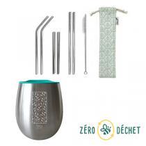 Packs Zéro Déchet - Pack découverte Zéro Déchet gobelet isotherme et set de paill