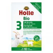 Holle - Lot de 3 x Lait de Suite au Lait de Chèvre Bio dès 10 mois