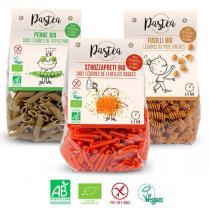 Pastéa - Lot découverte: 3 paquets de pâtes aux légumes