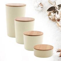 Point virgule - Pack découverte boîtes en fibre de bambou Blanc cassé