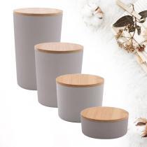 Point virgule - Pack découverte boîtes en fibre de bambou Gris ciment