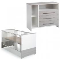 Schardt - Chambre Eco Silver 2 pièces - Lit et commode à langer