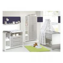 Schardt - Chambre Eco Silver 3 pièces – Lit, commode et armoire 2 portes