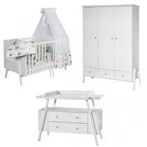 Schardt - Chambre Holly blanc 3 pièces – Lit évolutif, commode et armoire