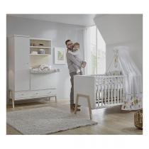 Schardt - Chambre Holly Nature 2 pièces – Lit évolutif et armoire à langer
