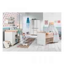 Schardt - Chambre Tokio 3 pièces - Lit, commode et armoire 6 portes