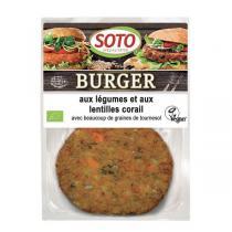 Soto - Burger légumes et lentilles corail 2 x 80g