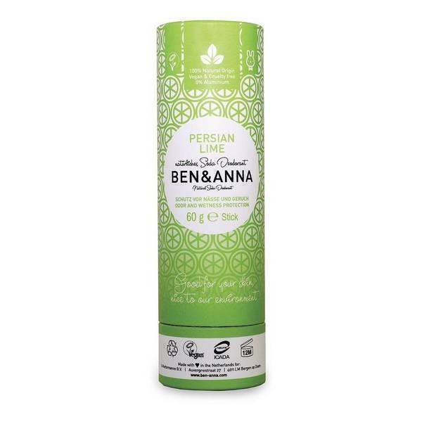 Ben & Anna - Déodorant Citron vert - Tube carton 60g