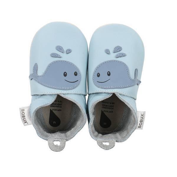 Bobux - Chaussons Soft Sole Baleine bleue - De 3 à 21 mois