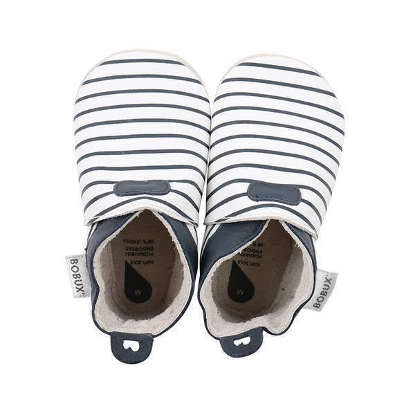 Bobux - Chaussons Soft Sole Ligne bleu marine - De 3 à 21 mois