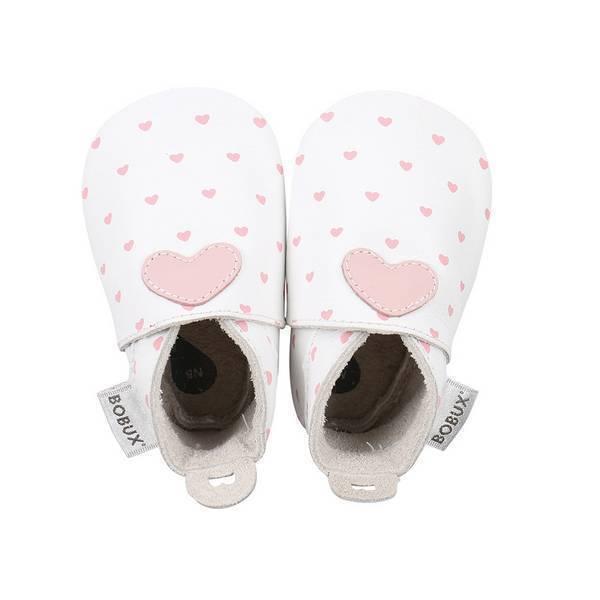 Bobux - Chaussons Soft Sole Coeur rose - De 3 à 21 mois