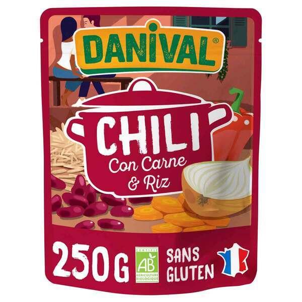 Danival - Chili con carne et riz 250g