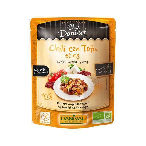 Danival - Chili con tofu et riz - 250g