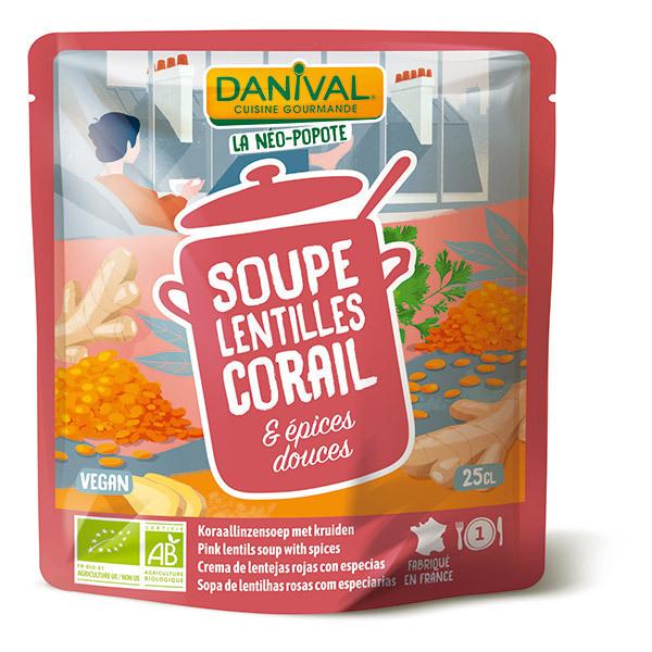 Danival - Soupe lentilles corail et épices 25cl