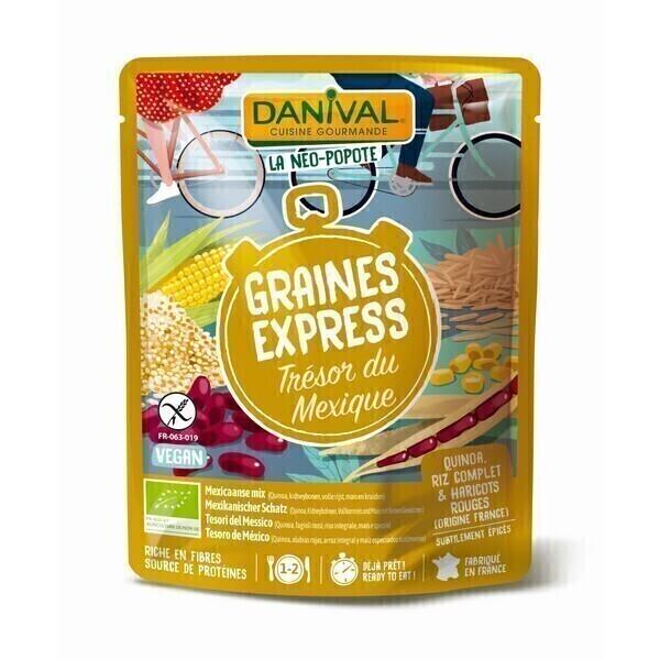 Danival - Trésor du Mexique quinoa, riz complet et haricots rouges 250g