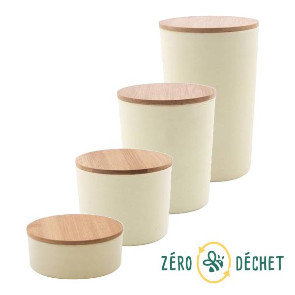 Packs Zéro Déchet - Pack découverte Zéro Déchet Boîtes bambou Blanc cassé
