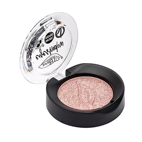 PuroBIO Cosmetics - Fard à paupières rose poudré irisé n°25