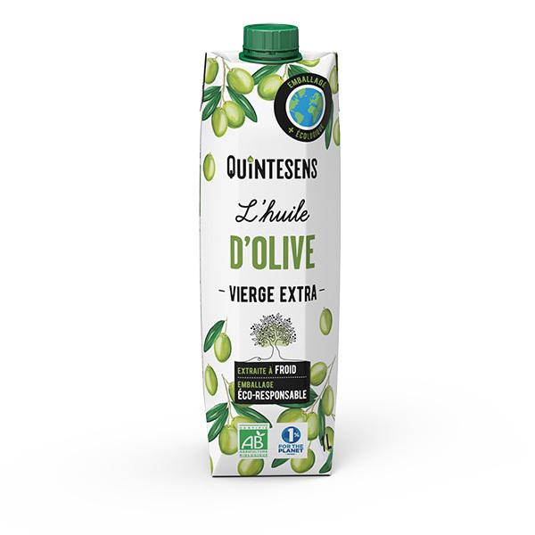 Quintesens - Lot de 2 x Huile d'Olive Vierge Extra Bio - 2 x 1L