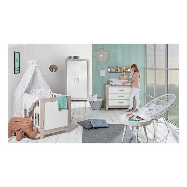 Schardt - Chambre Nordic Halifax 3 pcs - Lit, commode et armoire 2 portes