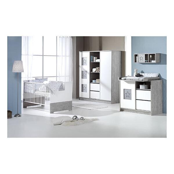 Schardt - Chambre Eco Star 3 pièces - Lit, commande et armoire 2 portes
