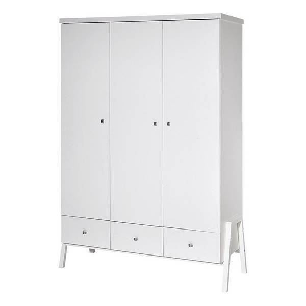 Schardt - Armoire 3 portes Holly blanc
