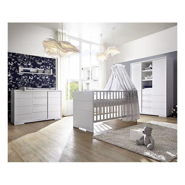 Schardt - Chambre Maxx Blanc 3 pièces - Lit évolutif, commode et armoire