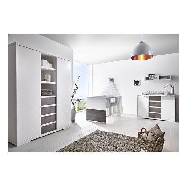 Schardt - Chambre Maxx Fleetwood 3 pcs - Lit évolutif, commode et armoire
