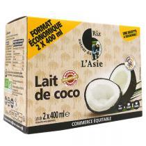 Autour du Riz - Lot de 2 laits de coco 400ml x2