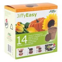 Batlle - Lot de 14 pots et pastilles de tourbe JiffyEasy