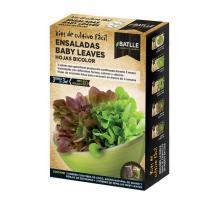 Batlle - Kit pour potager urbain Salade jeunes pousses Bicolore 100g