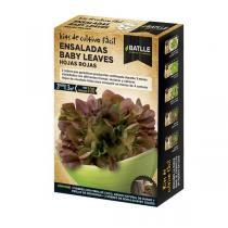 Batlle - Kit pour potager urbain Salade jeunes pousses rouges 100g