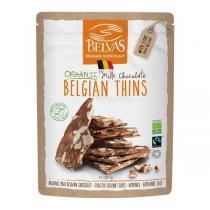 Belvas - Belgian Thins Chocolat au lait, noix de coco et amandes 120g