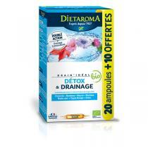 Dietaroma - Drain'Idéal Bio Détox & Drainage - 20 + 10 ampoules OFFERTES