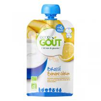 Good Gout - Lot de 2 x Gourde Brassé Banane Citron dès 6 mois - 2 x 90g