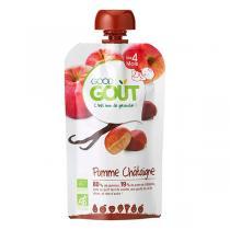 Good Gout - Lot de 2 x Gourde de Fruits Pomme Châtaignes dès 4 mois 120g
