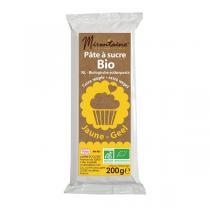 Mirontaine - Pâte à sucre bio Jaune 200g