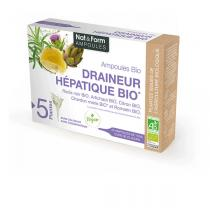 Nat & Form - Draineur Hépatique Bio x 20 ampoules de 10mL