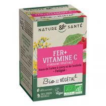 Nature & Santé - Fer + Vitamine C Bio x 60 comprimés