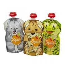 Squiz - Pack 3 gourdes réutilisables Australia 130ml