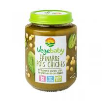 Vegebaby - Pot Epinards-pois chiches bio bébé 190G