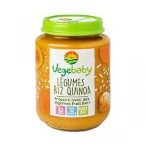 Vegebaby - Pot Légumes-riz-quinoa bio bébé 190G