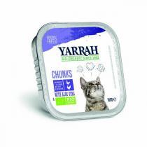 Yarrah - Bouchée pour chat bio barquette dinde 100g
