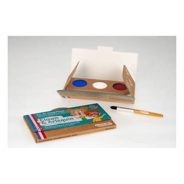 Namaki - Kit de maquillage Clown  Arlequin - 3 couleurs