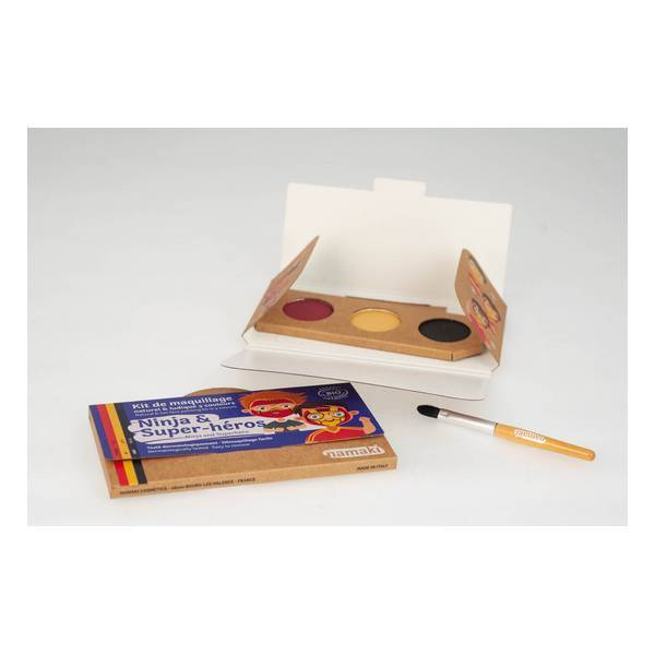 Namaki - Kit de maquillage Ninja  Super-heros - 3 couleurs