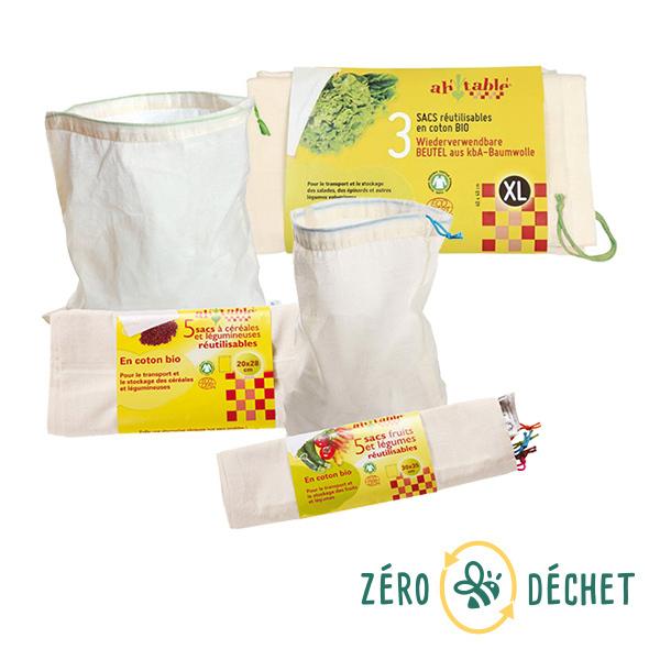 Packs Zéro Déchet - Pack découverte Zéro Déchet 13 sacs à vrac réutilisables