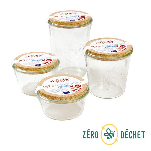 Packs Zéro Déchet - Pack découverte Zéro Déchet 4 pots à vrac en verre