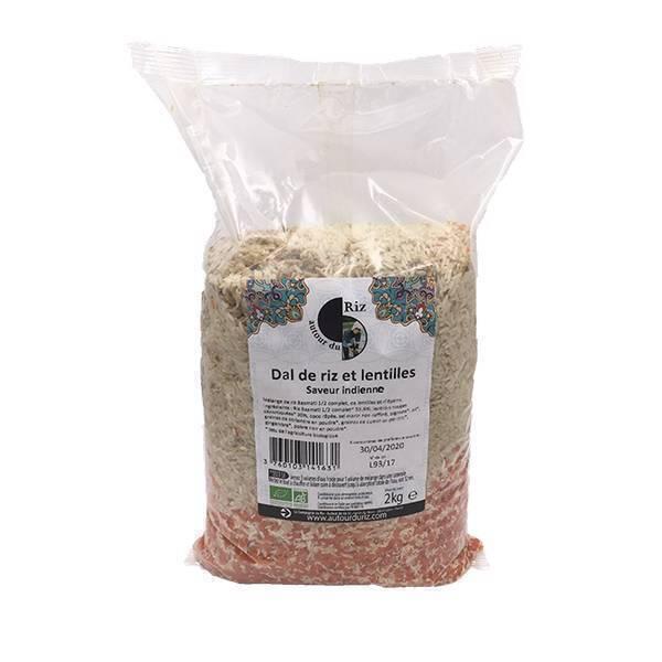 Autour du Riz - Dal de riz et lentilles vrac 2kg