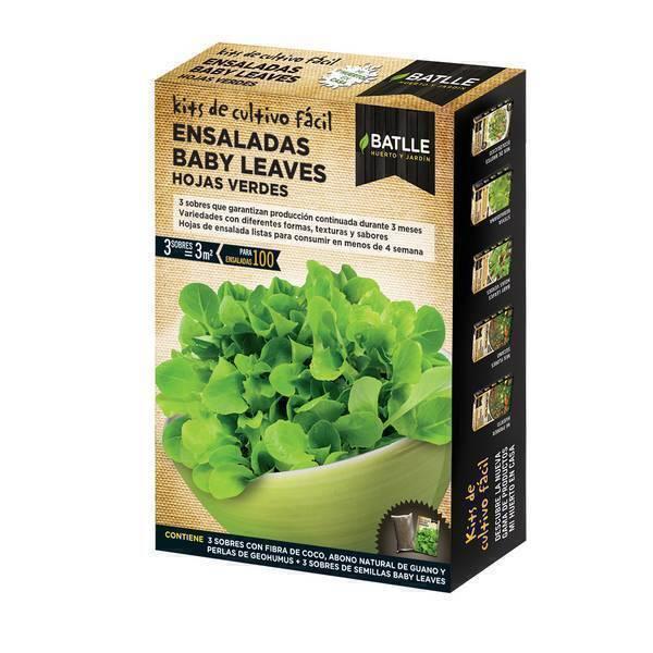 Batlle - Kit pour potager urbain Salade jeunes pousses vertes 100g