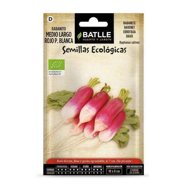 Batlle - Graines de radis long rouge à pointe blanche bio